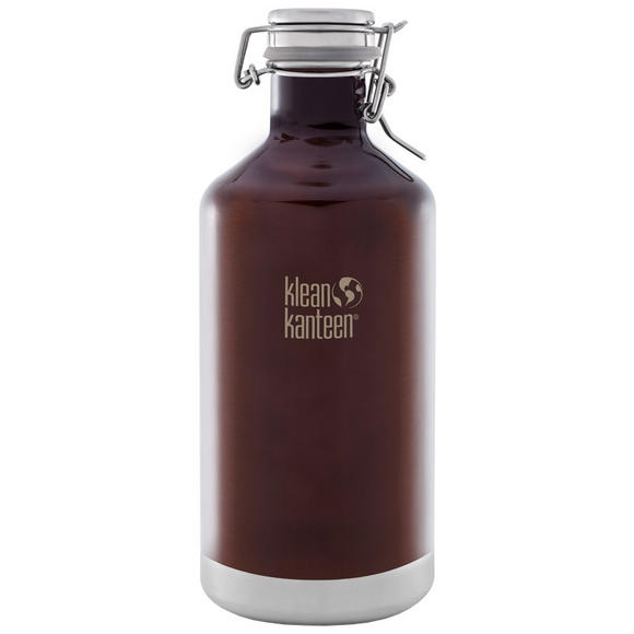 Klean Kanteen Growler Insulated 1900ml with Swing Lok Cap Dark Amber