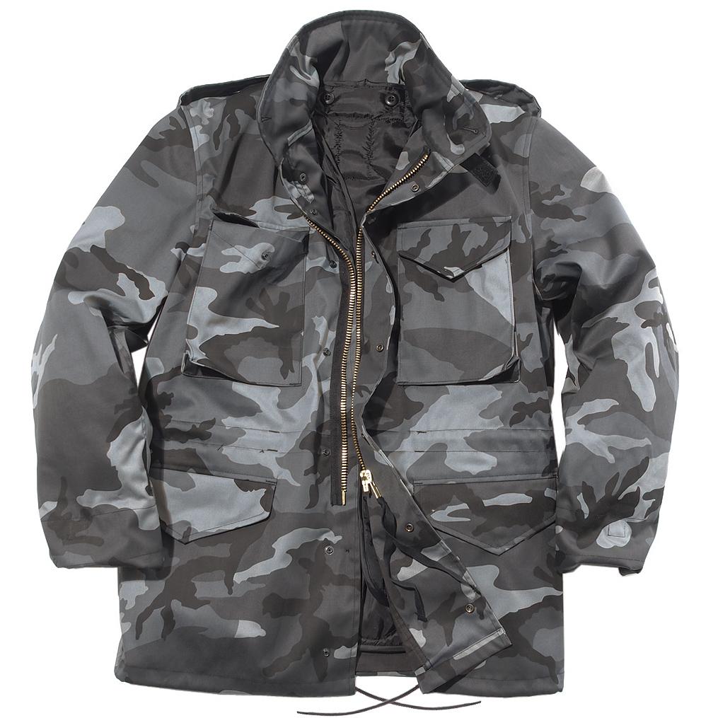 Mil Tec Mens Urban Parka Combat M65 Army Jacket Tactical