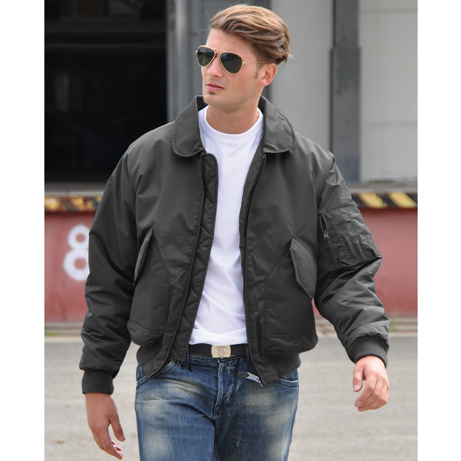 Mil-Tec US CWU Pilot Flight Jacket Mens Security Cadet Bomber ...