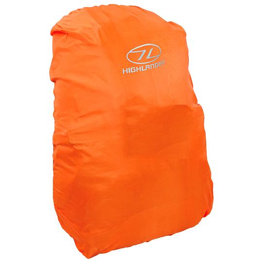 HIGHLANDER SMALL 20-30L HI VIS SAFETY WATERPROOF BAG RUCKSACK RAIN COVER ORANGE