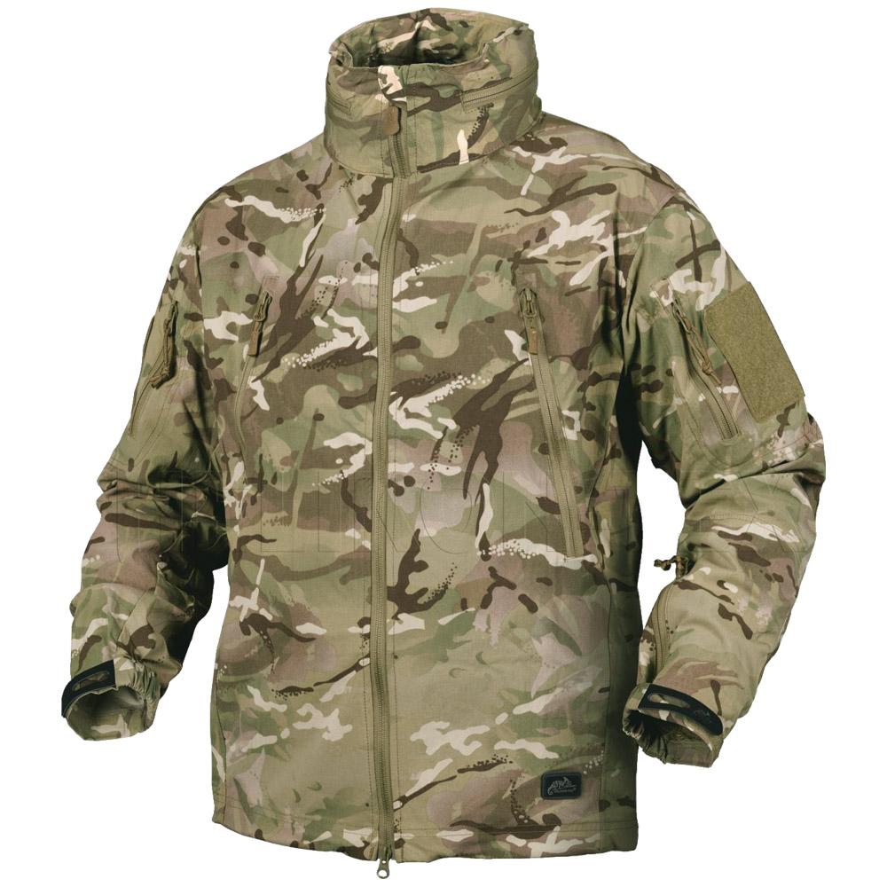Helikon Trooper Hooded Soft Shell Military Jacket Windproof Coat Hiking MP Camo
