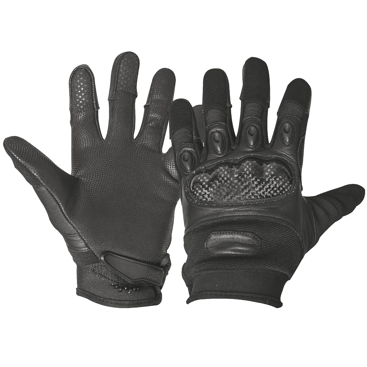 Black gloves mens - Highlander Tactical Mens Combat Full Finger Kevlar Cap