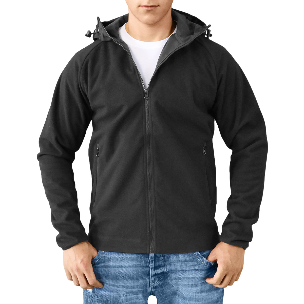 Surplus Warm Soft Fleece Hooded Jacket Windproof Hoodie Mens ...