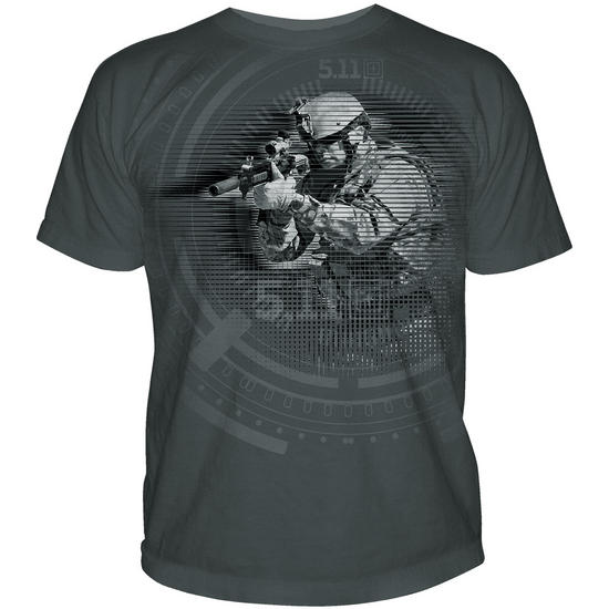 5.11 Night Vision Logo T-Shirt Charcoal