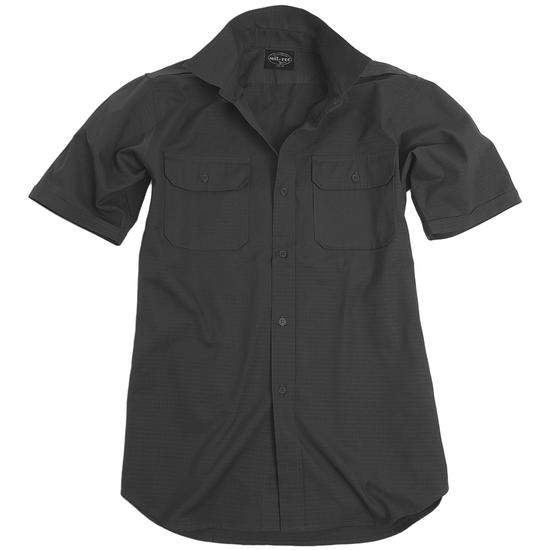 Mil-Tec RipStop Shirt Short Sleeve Black