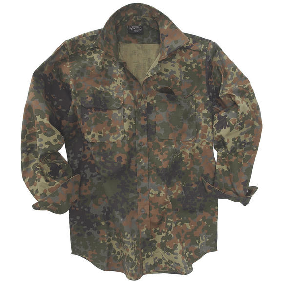 Mil-Tec RipStop Shirt Long Sleeve Flecktarn