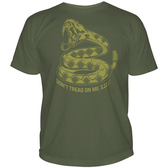 5.11 Don't Tread on Me T-Shirt OD Green