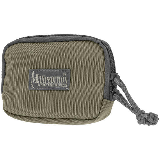 "Maxpedition Hook & Loop 3"" x 5"" Zipper Pocket Khaki Foliage"