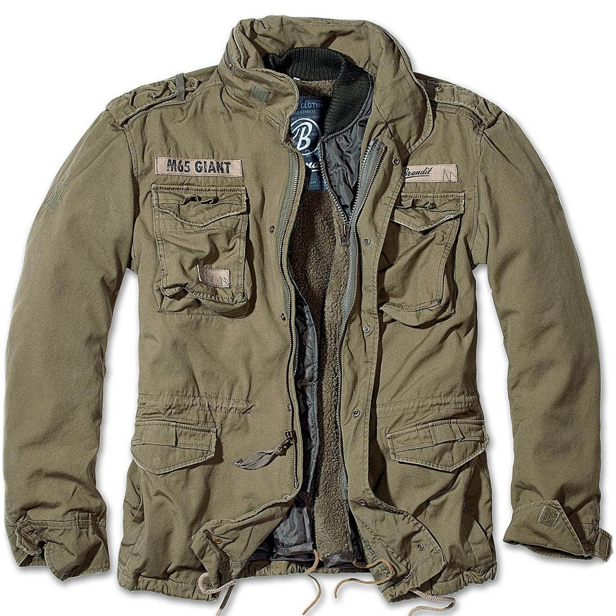 Brandit Classic M65 Mens Field Jacket Warm Lining Hunting Parka ...