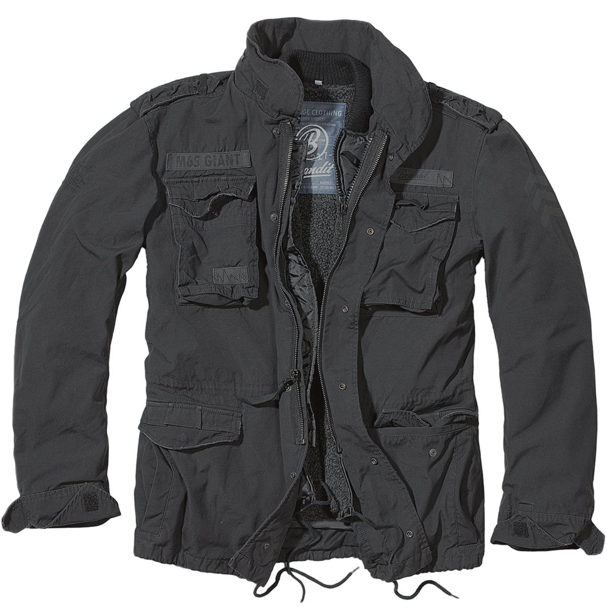 brandit m65 giant mens field jacket warm police coat. Black Bedroom Furniture Sets. Home Design Ideas