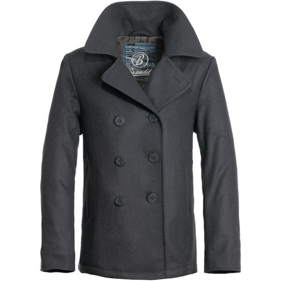 Brandit Pea Coat Anthracite