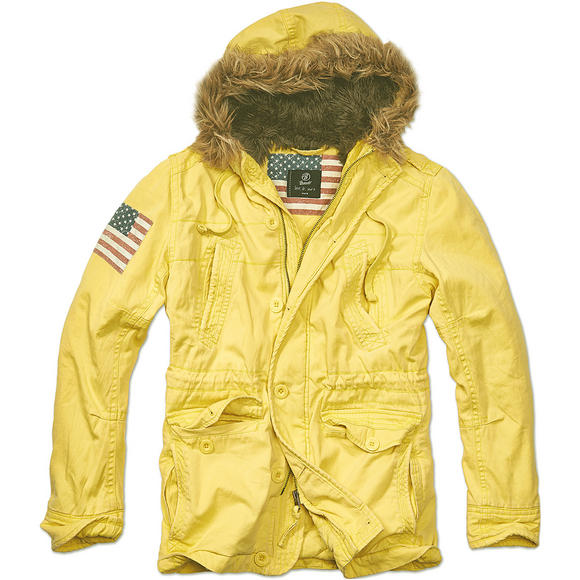 Brandit Vintage Explorer Stars & Stripes Jacket Yellow