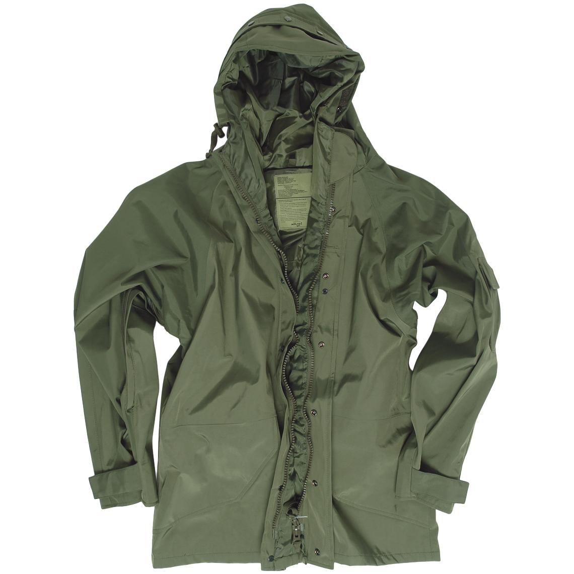 mil tec waterproof wet weather hooded jacket military hunting hiking parka olive ebay. Black Bedroom Furniture Sets. Home Design Ideas