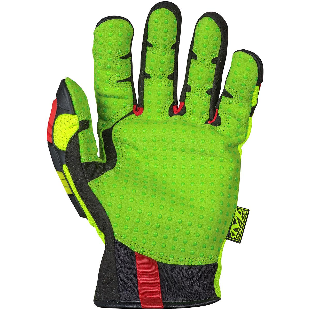 Mens yellow gloves - Sentinel Mechanix Wear The Safety M Pact Orhd Padded Mens Work Gloves Hi Viz Yellow