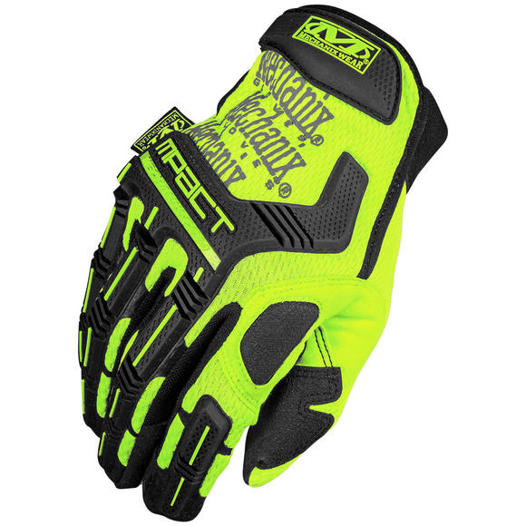Mechanix Wear The Safety M-Pact Gloves Yellow
