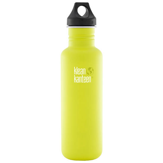 Klean Kanteen Classic 800ml Bottle with Loop Cap Lime Pop