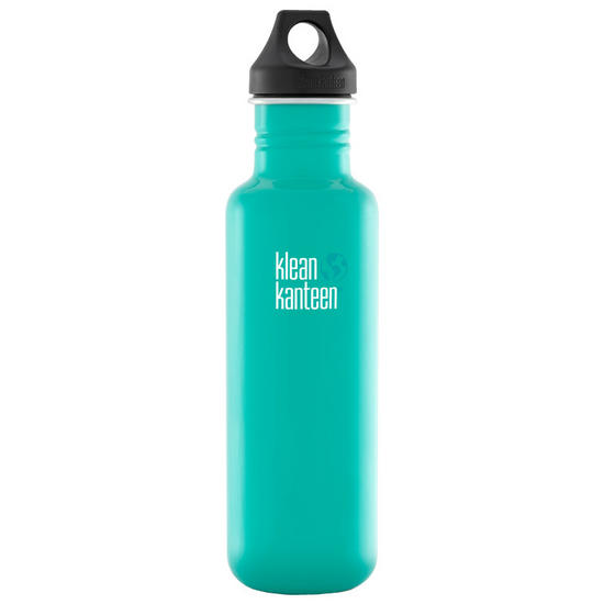 Klean Kanteen Classic 800ml Bottle with Loop Cap Tidal Pool