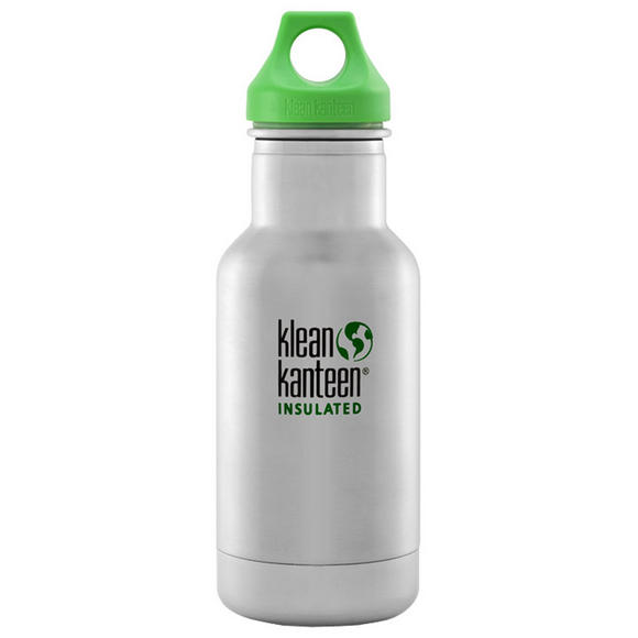 Kid Kanteen 355ml Classic Insulated Bottle Loop Cap Brushed Stainless