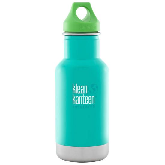 Kid Kanteen 355ml Classic Insulated Bottle Loop Cap Tidal Pool