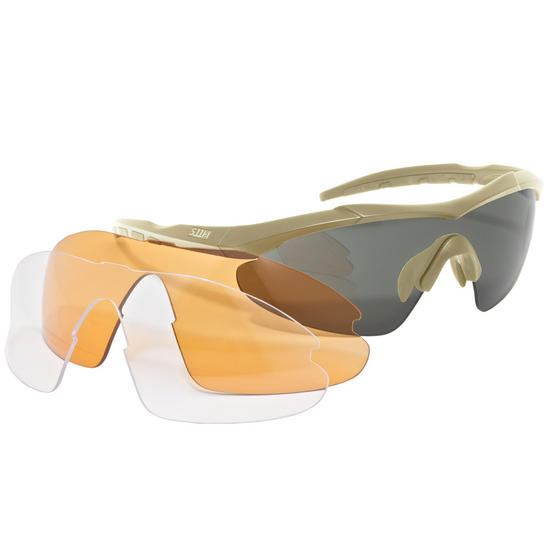 5.11 Aileron Shield Ballistic Glasses Sandstone
