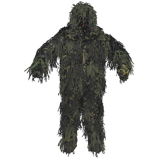 MFH Ghillie Jackal Suit 3D Body System Woodland