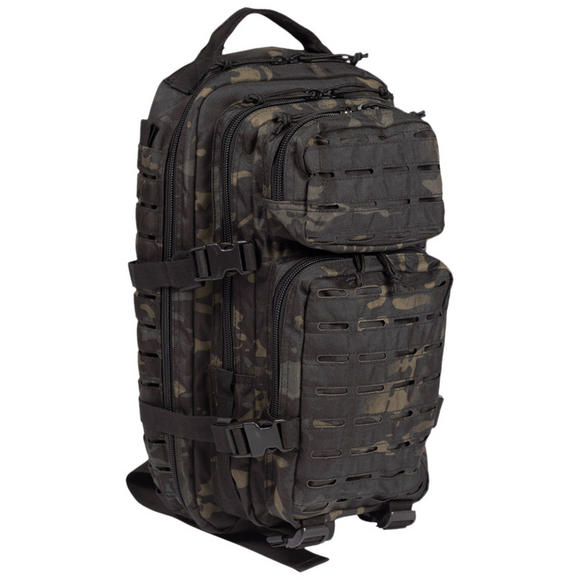 Mil-Tec US Assault Pack Small Laser Cut Multitarn Black