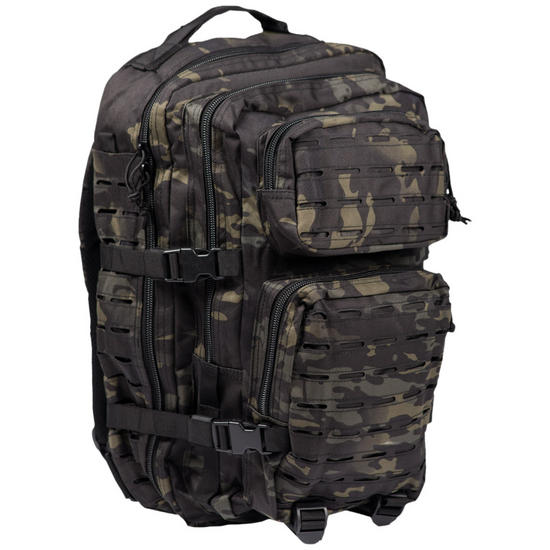 Mil-Tec US Assault Pack Large Laser Cut Multitarn Black