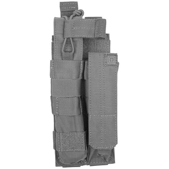 5.11 Double MP5 Bungee Cover Mag Pouch Storm