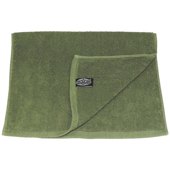 MFH 30x50cm Terry Cloth Towel OD Green