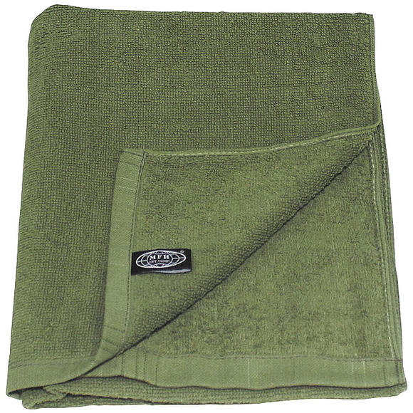 MFH 110x50cm Terry Cloth Towel OD Green
