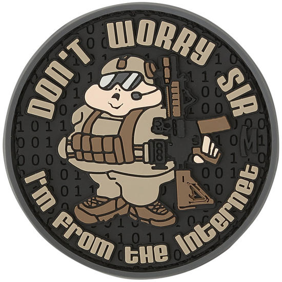 Maxpedition Don't Worry Sir (Arid) Morale Patch