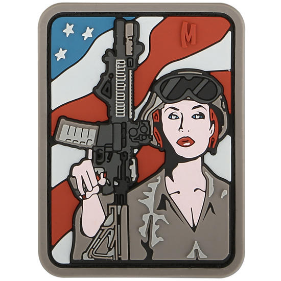 Maxpedition Soldier Girl (Arid) Morale Patch