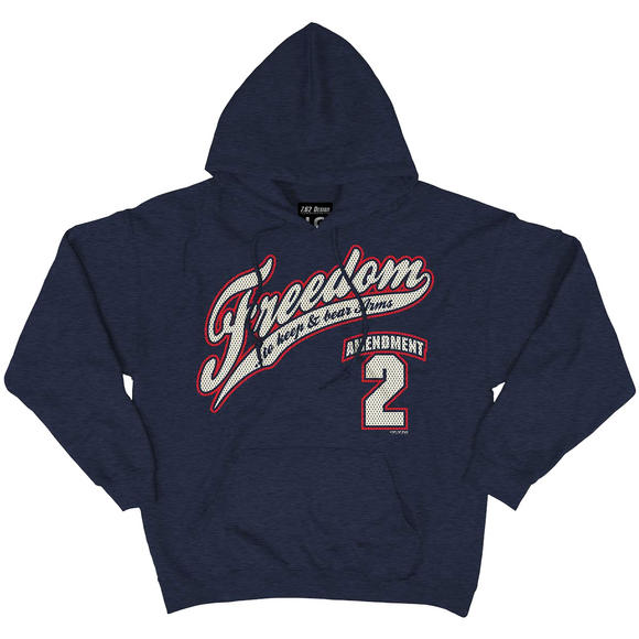 7.62 Design 2nd Amendment Freedom Hoodie Navy Heather