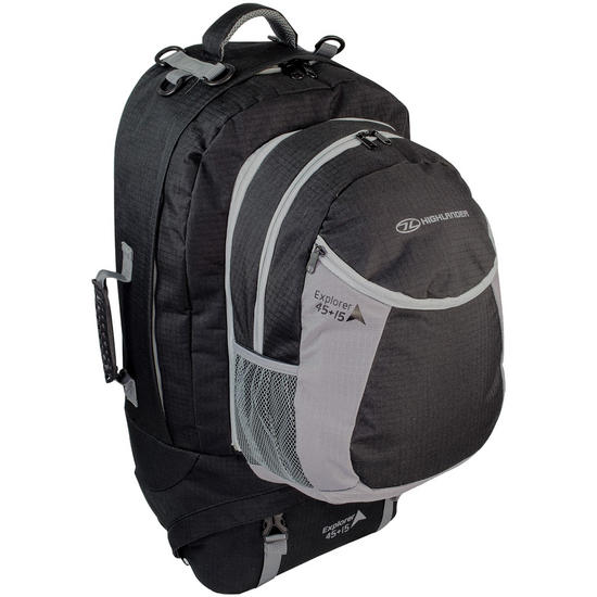 Highlander Explorer Ruckcase 45+15L Black