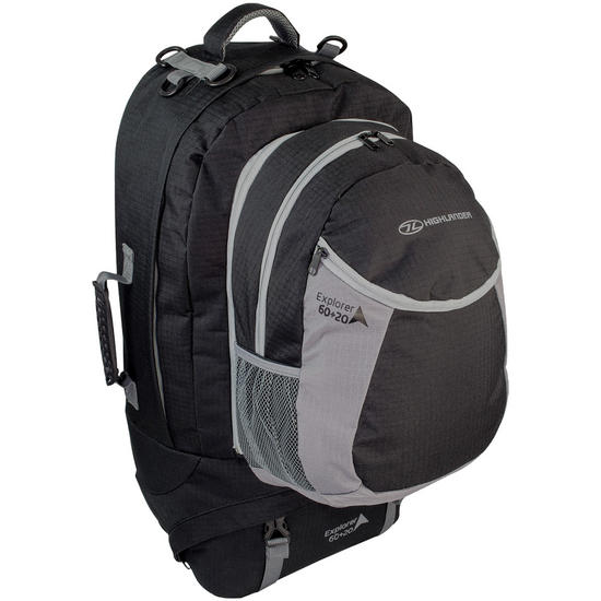 Highlander Explorer Ruckcase 60+20L Black