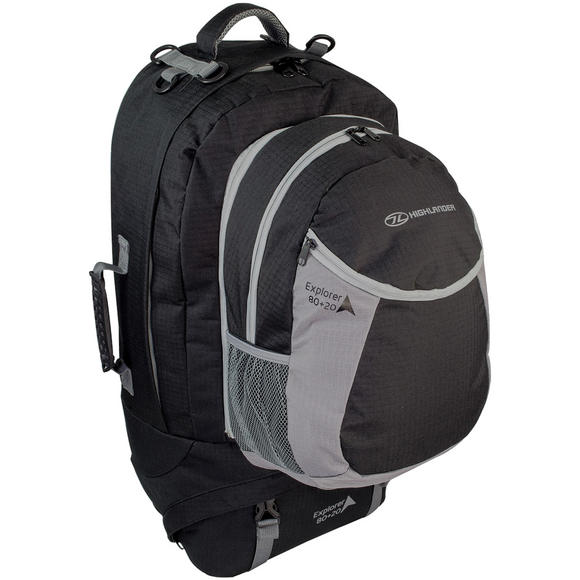 Highlander Explorer Ruckcase 80+20L Black