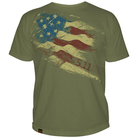 5.11 Still There Logo T-Shirt OD Green