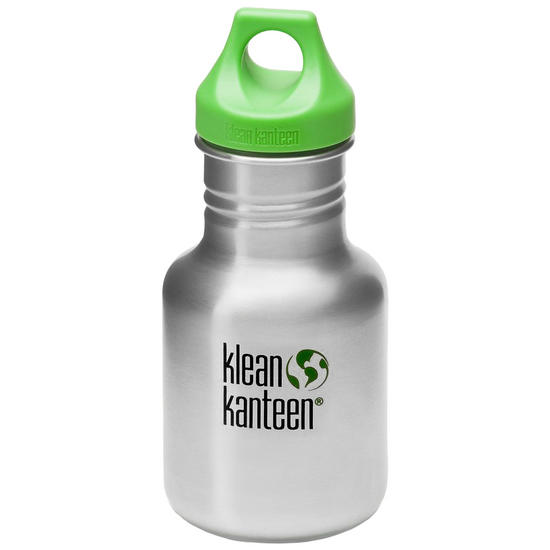 Kid Kanteen Sport 355ml Bottle with Loop Cap Brushed Stainless