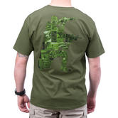 5.11 High Low Logo T-Shirt OD Green