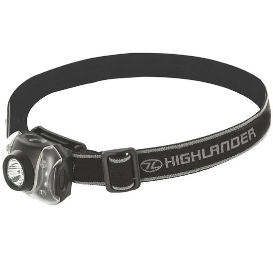 Highlander Flame 3+4 LED Head Torch Black