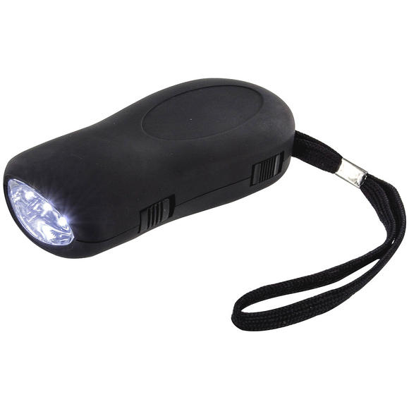 Highlander 3 LED Dynamo Torch Black