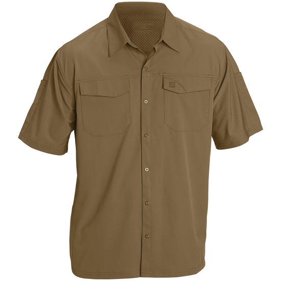 5.11 Freedom Flex Woven Shirt Short Sleeve Battle Brown