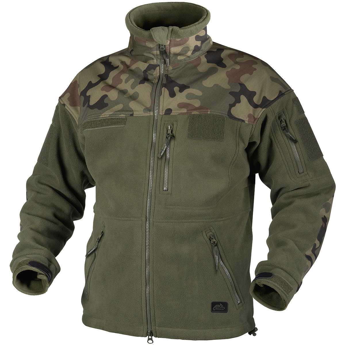 Helikon Infantry Duty Fleece Jacket Olive Green / Polish Woodland ...