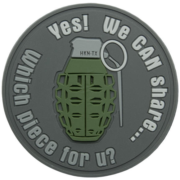 Helikon We Can Share Grenade Patch Grey