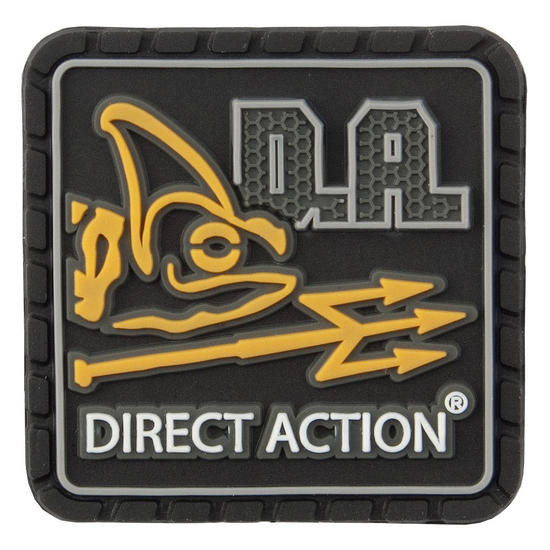 Direct Action Logo Patch Small Black