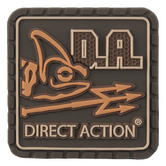 Direct Action Logo Patch Small Coyote