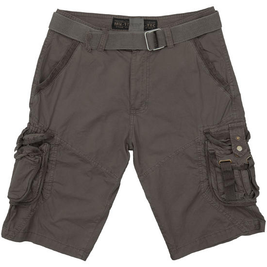 Mil-Tec Vintage Survival Shorts Prewashed Black