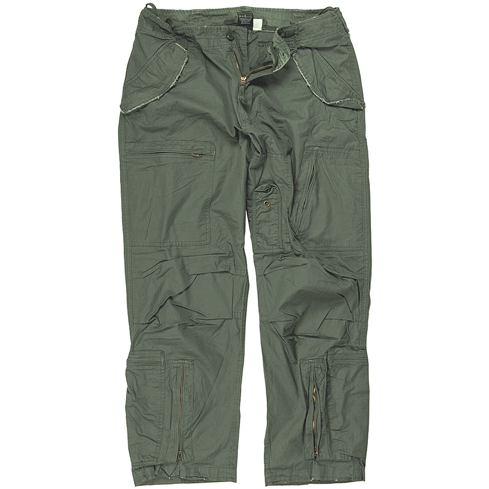 Mil-Tec Mens Pilot Cargo Trousers Poplin Cotton Military Pants ...