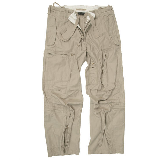 Mil-Tec Pilot Trousers Poplin Cotton Prewashed Khaki