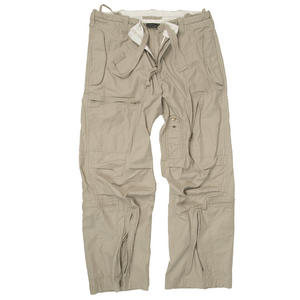 Mil-Tec Pilot Trousers Moleskin Cotton Prewashed Khaki